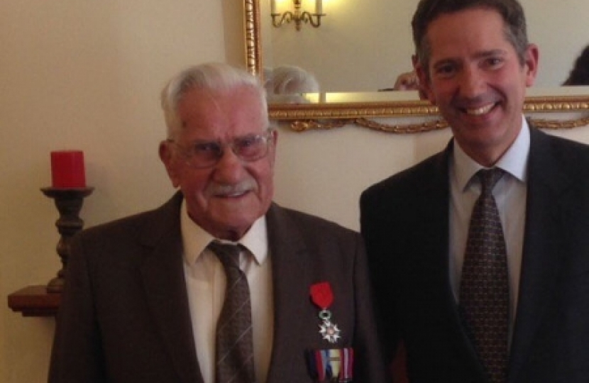 MP meets local Legion d'honneur recipient