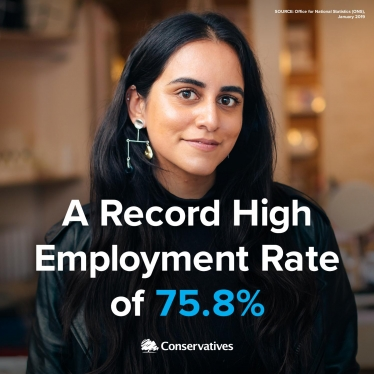 Huntingdon Conservative Record high employment